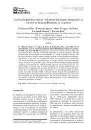 Uso de clinoptilolita como un vehículo de fertilizantes nitrogenados ...