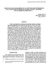 efecto del fraccionamiento de la fertilizacion nitrogenada en