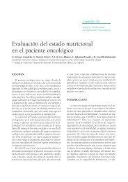 Evaluación del estado nutricional en el paciente oncológico - SEOM