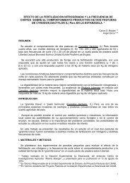 EFECTO DE LA FERTILIZACION NITROGENADA Y LA ... - Inia