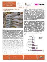Importancia de los fertilizantes nitrogenados - Dane