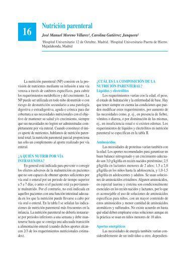 Nutrición parenteral - Asociación Española de Pediatría