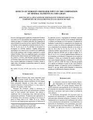 Efectos de la aplicación de fertilizante nitrogenado en - SciELO
