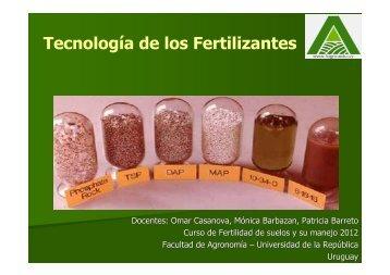 Tecnología de los Fertilizantes - Facultad de Agronomía