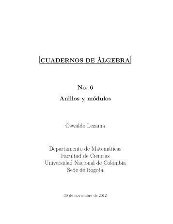 Anillos y módulos - Departamento de Matemáticas - Universidad ...