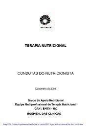 terapia nutricional condutas do nutricionista - Hospital de Clínicas ...