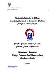 Proyecto Física y Matemática - FCE - Universidad Estatal de Bolívar
