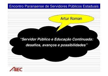Servidor Público e Educação Continuada: desafios - Escola de ...