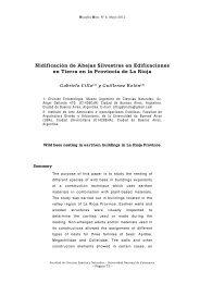 Nidificación de Abejas Silvestres en Edificaciones en Tierra en la ...