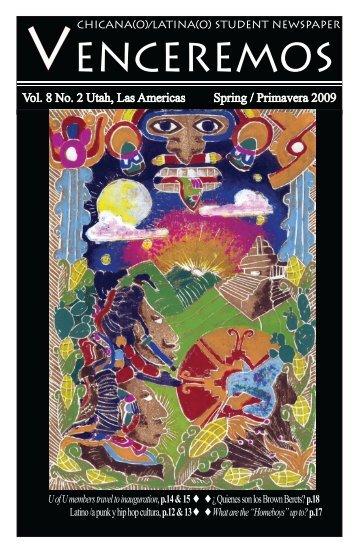 Vol. 8 No. 2 Utah, Las Americas Spring / Primavera 2009