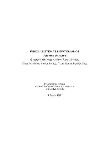 FI1002 - SISTEMAS NEWTONIANOS Apuntes del curso Elaborado ...