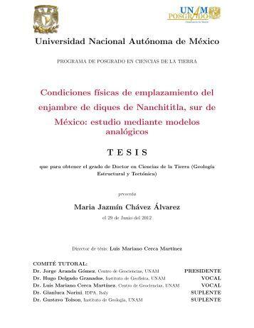 Chávez Álvarez María Jazmín - Centro de Geociencias ::.. UNAM ...
