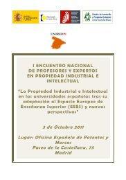 Programa y Ponencias - Oficina Española de Patentes y Marcas