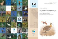 XI Reunión Argentina de Ornitología - Aves Argentinas