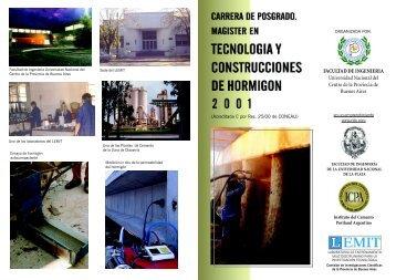Maestría en Tecnología del Hormigón - Facultad de Ciencias ...