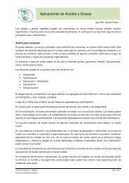 Aplicaciones de Aceites y Grasas - Alimentos Argentinos