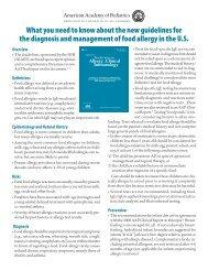 Summary - American Academy of Pediatrics