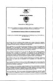 Resolución CRC 3502 de 16 de Diciembre de 2011 - Comcel