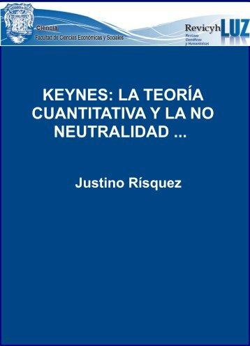 Keynes: la teoría cuantitativa y la no neutralidad del dinero. Revista ...