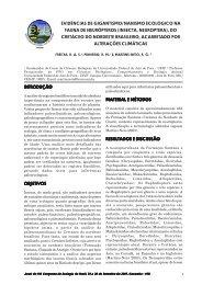 do cretáceo do nordeste brasileiro - Sociedade de Ecologia do Brasil