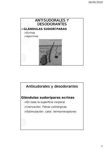 Desodorantes y antitranspirantes: El sudor ecrino y apocrino: olor ...