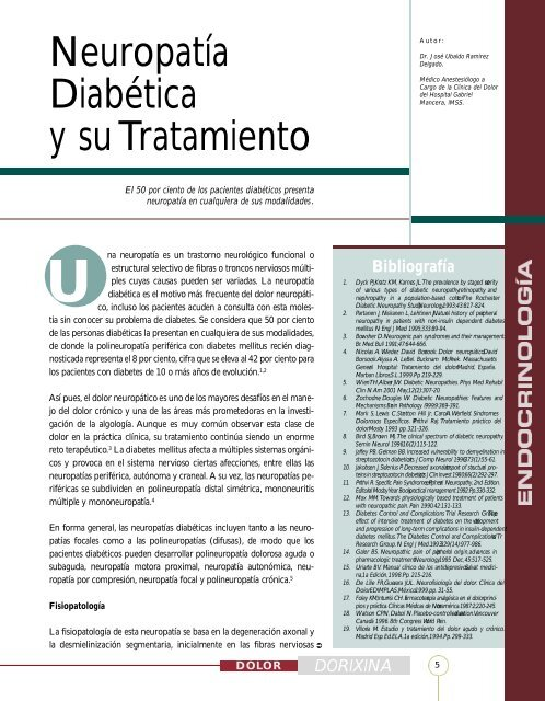 tratamiento del dolor neuropático diabetes