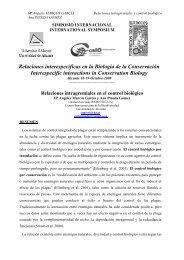Relaciones intragremiales en el control biológico