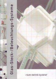 Glas-Steck-System - raum technik systeme
