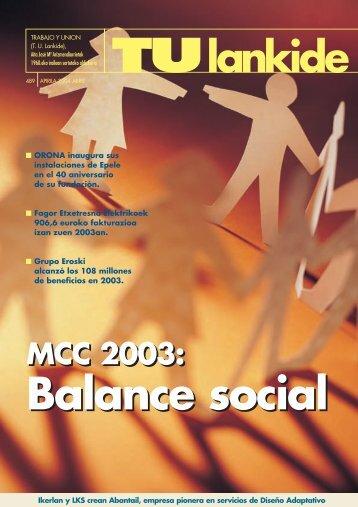 MCC 2003: MCC 2003: - Mondragon