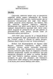 Marmaris'in MISTAN SOKAĞI - Marmaris Belediyesi