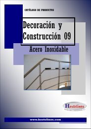 Catalogo Decoración y Construccion Acero Inox 09 - Hostelinox.com
