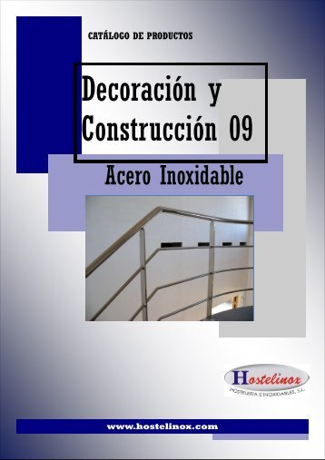 Catalogo Decoración y Construccion Acero Inox 09 - Hostelinox.com
