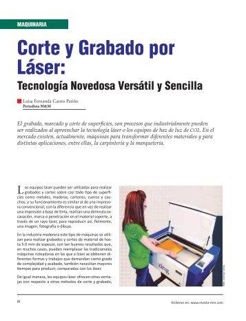 Maquinaria Corte y Grabado por Láser: Tecnología Novedosa ...