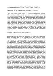 EVANGELIO DEL DOMINGO XXVII - Homiletica.org
