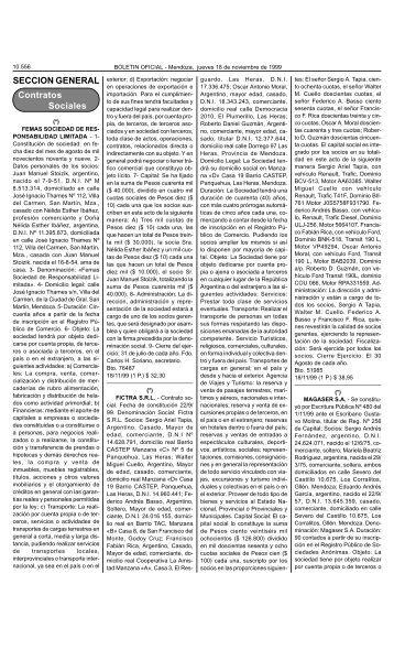 Bolet n Oficial N 26032 del 18/11/1999 - Gobierno de Mendoza