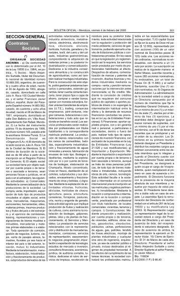 Boletin Oficial N 26087 del 04/02/2000 - Gobierno de Mendoza