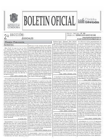 sección - Boletin Oficial