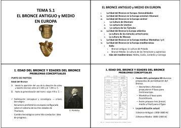 TEMA 5.1 EL BRONCE ANTIGUO y MEDIO EN EUROPA - RUA