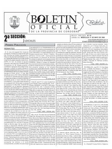 SECCIÓN: - Boletin Oficial