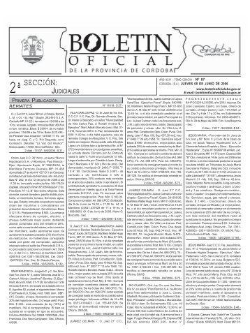 SECCIÓN: - Boletin Oficial - Gobierno de la Provincia de Córdoba