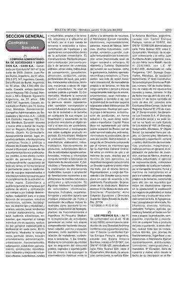 Boletin Oficial N 26196 del 13/07/2000 - Gobierno de Mendoza