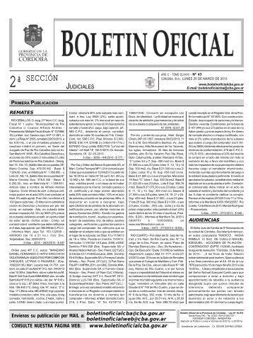 boletin oficial nº 43 - 2º seccion