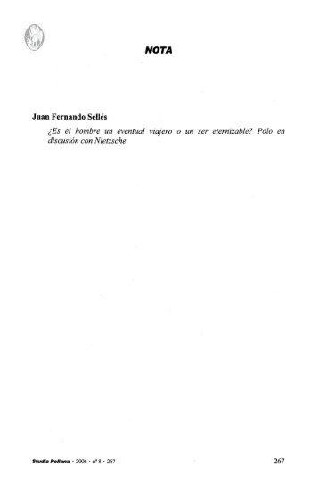 Juan Fernando Selles - Universidad de Navarra