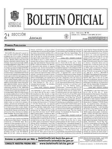 2º seccion - Boletin Oficial