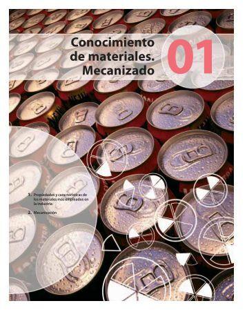 1. Conocimiento de materiales. Mecanizado - McGraw-Hill