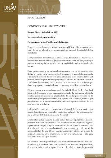 MARTILLEROS CONDICIONES HABILITANTES. - UNAV