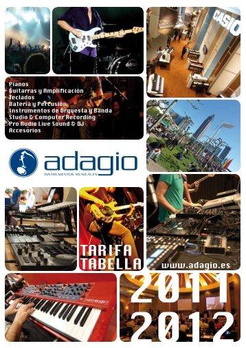 guitarras, bajos, amplificadores y efectos - Adagio