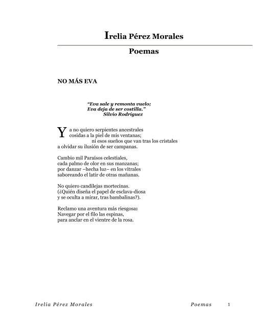 Irelia Pérez Morales Poemas