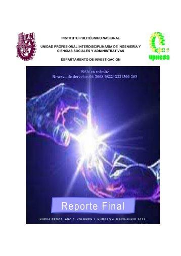 Revista Reporte Final 2011- - Instituto Politécnico Nacional
