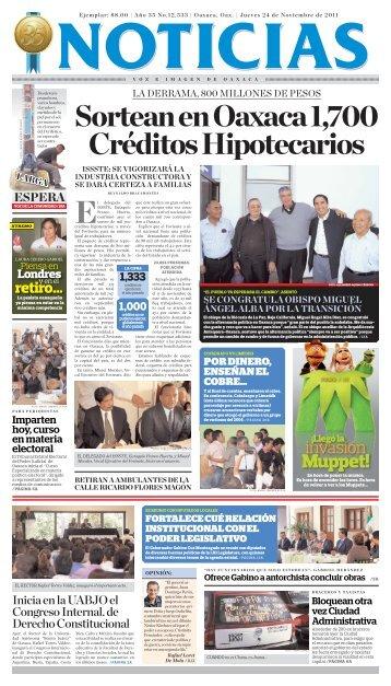 Noviembre 2011 - Noticias Voz e Imagen de Oaxaca